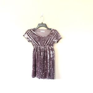 American Apparel Velvet Babydoll Dress